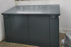 heavy duty solid metal shed