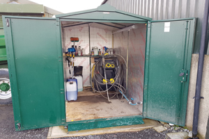 Customer's Metal Shed Insulation for great winter storage