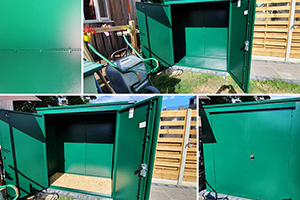 Lawnmower and Garden Storage Shed
