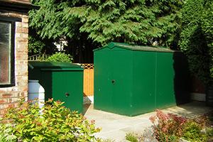 bike and garden metal sheds
