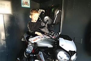 Gladiator motorcycle metal garage