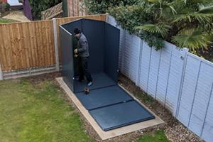 Gladiator metal shed installation