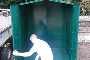 secure and reliable metal shed