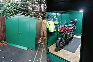 Motorcycle garage metalshed