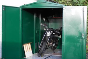 Motorcycle garage for Yamaha motorbike