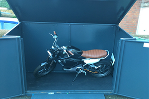 secure all metal outdoor bike shed