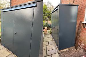 Shed installation garden storage
