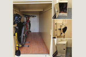 Double Bike Safe with Wooden Floor