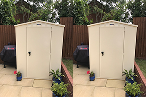 Waterproof garden storage shed
