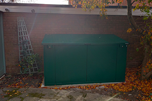 weatherproof secure bike box
