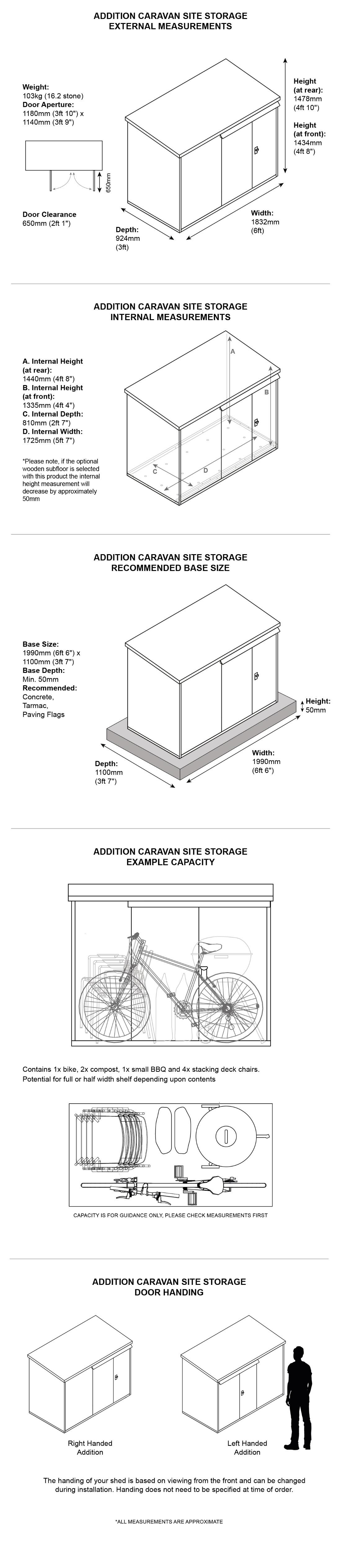 Metal Caravan Site Storage Dimensions