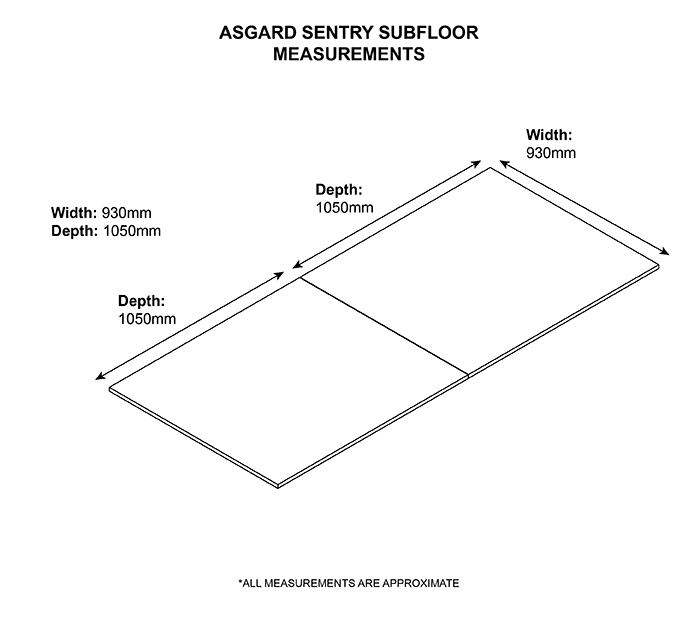 Asgard Storage Subfloor Dimension