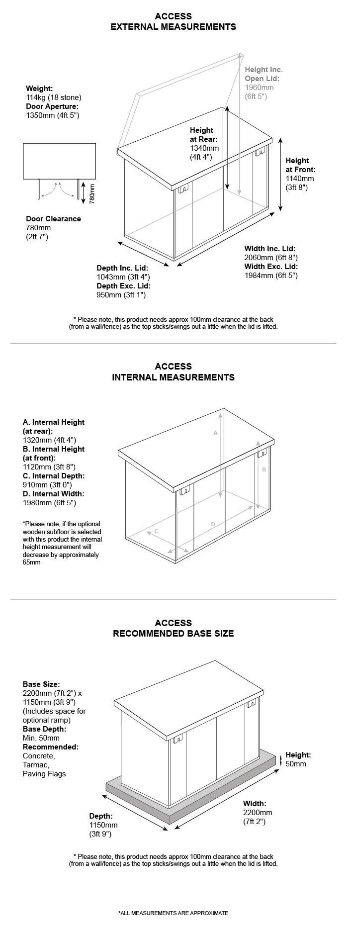 School Storage Pack 7 dimensions