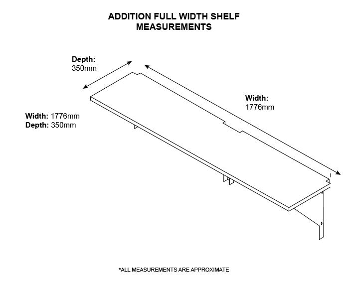 Asgard full width shelf