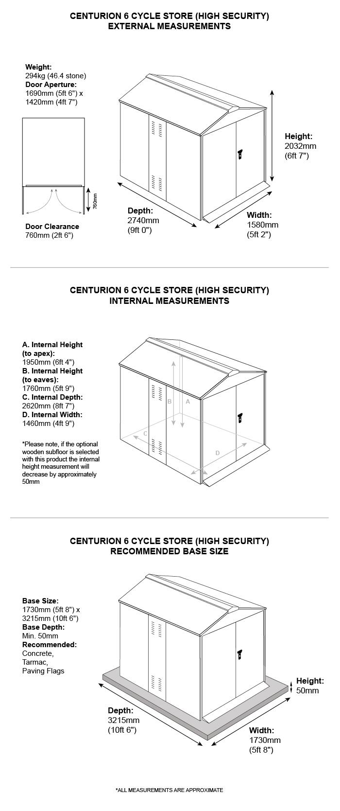 Asgard Cycle Garage Dimensions