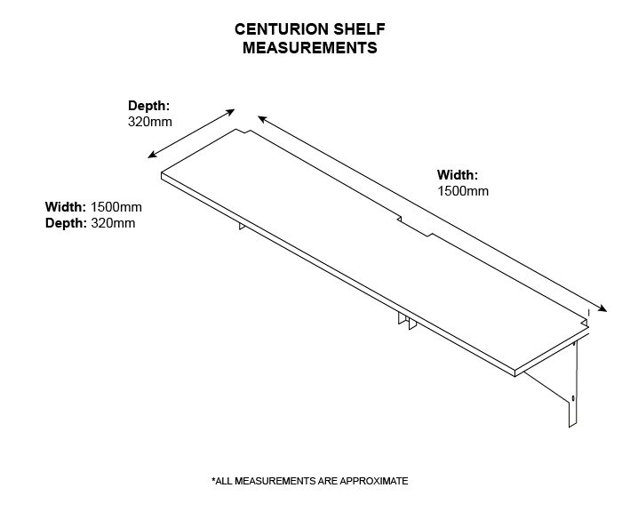 Strong metal shelving