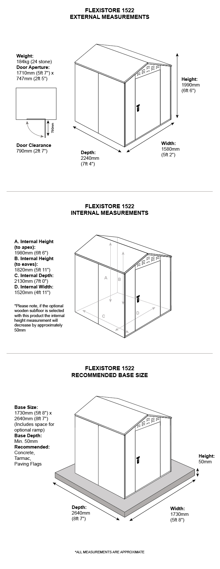 5 x 7 metal garden sheds dimensions