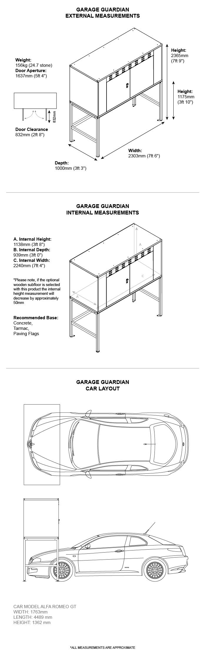 Garage Guardian Dimensions