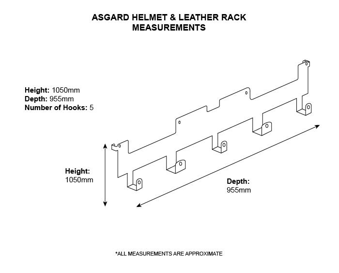 Motorbike garage storage hook rail from Asgard