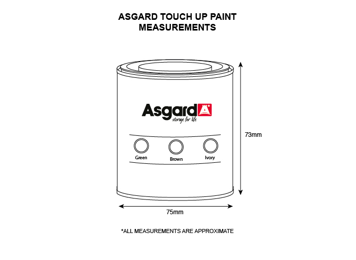 Asgard touchup paint (250ml bottle)