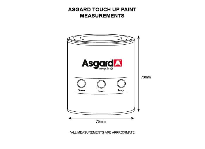 Asgard touchup paint (250ml bottle)