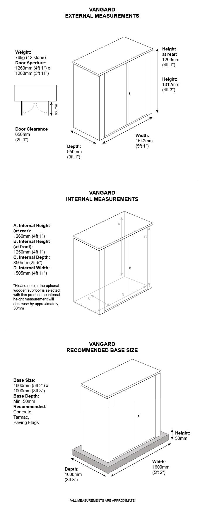 Metal Caravan Storage Dimensions