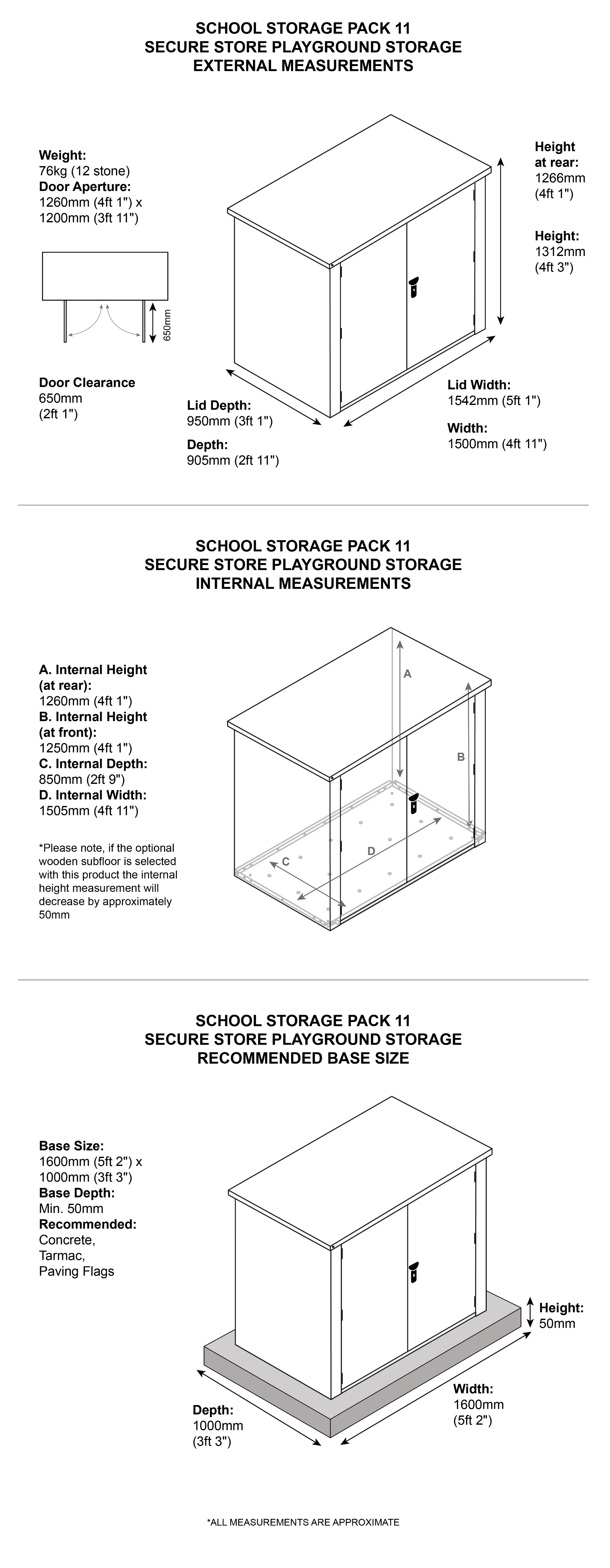 Nursery Storage dimensions