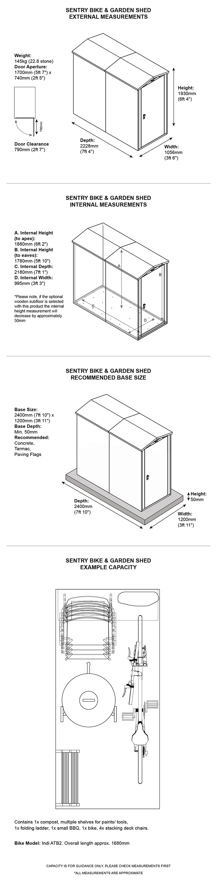 Asgard Sentry Shed Dimensions