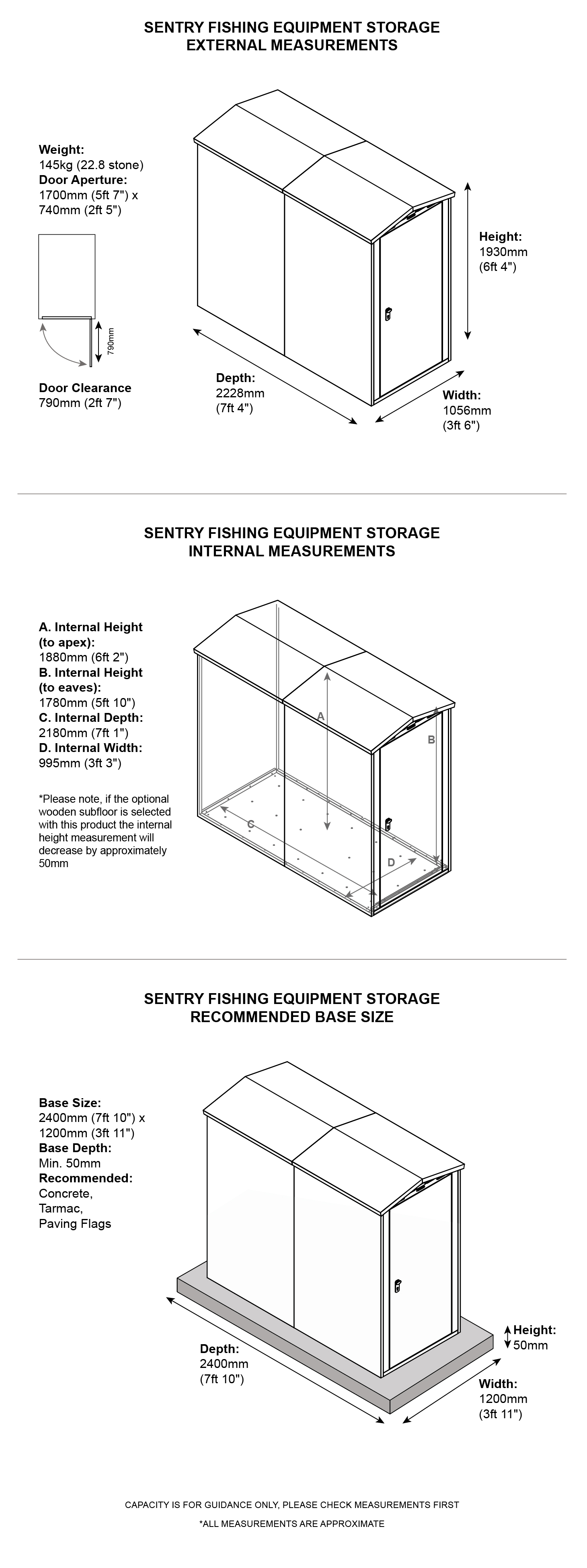 Asgard Sentry Fishing Storage Shed Dimensions