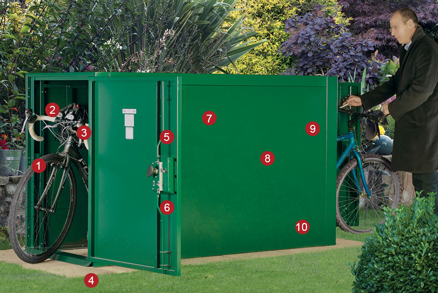 Key Features of the Double Ended Bike Locker