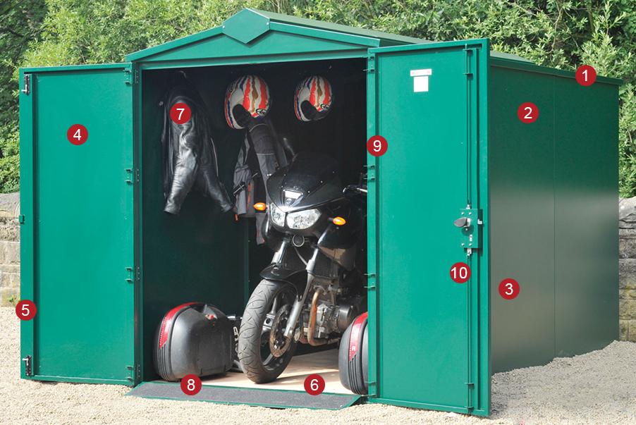 Secure Motorbike Storage