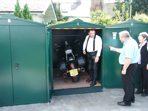 Storage for large motorcycles from Asgard