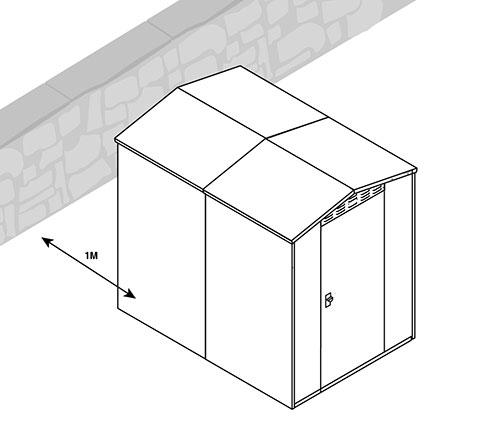 metal sheds and condensation minimum distance