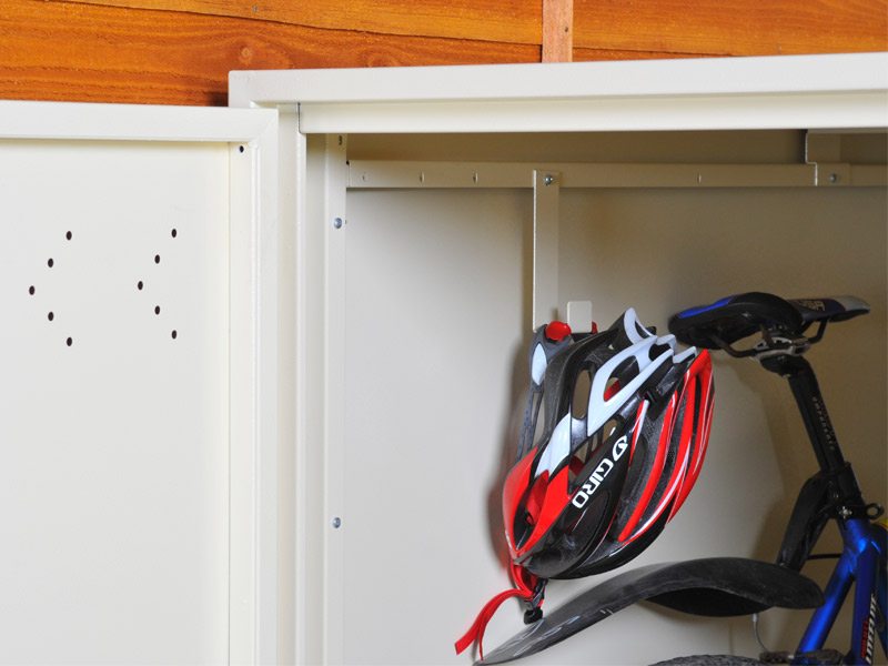 Asgard bike locker accessory hooks