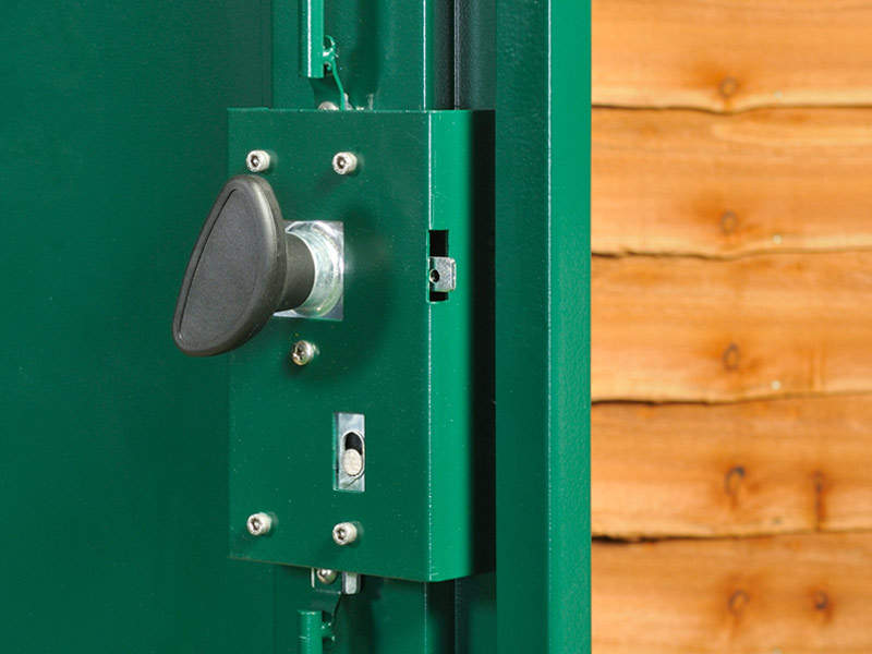 Secure shed locking mechanisms