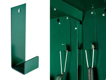 Storage hooks for sheds
