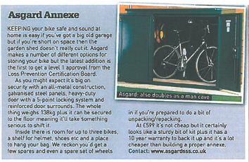 Asgard annexe bike shed - reviewed by Cycling World