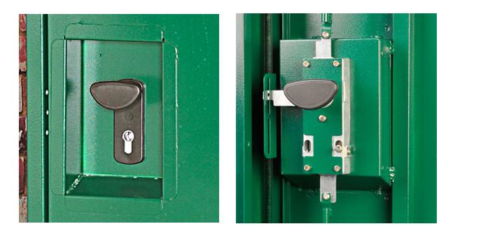 Asgard bike locker approved locking mechanism