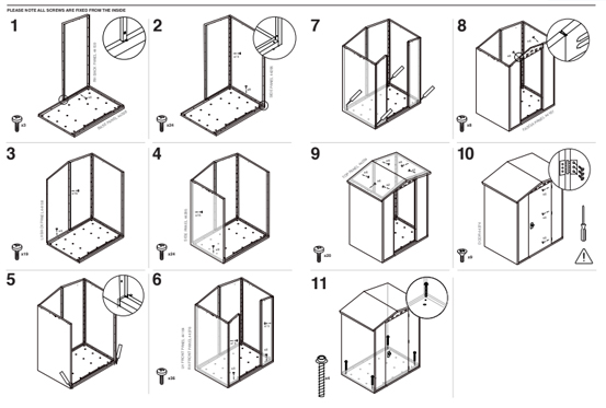 self build Asgard shed instructions