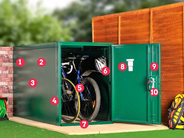 2 bike storage
