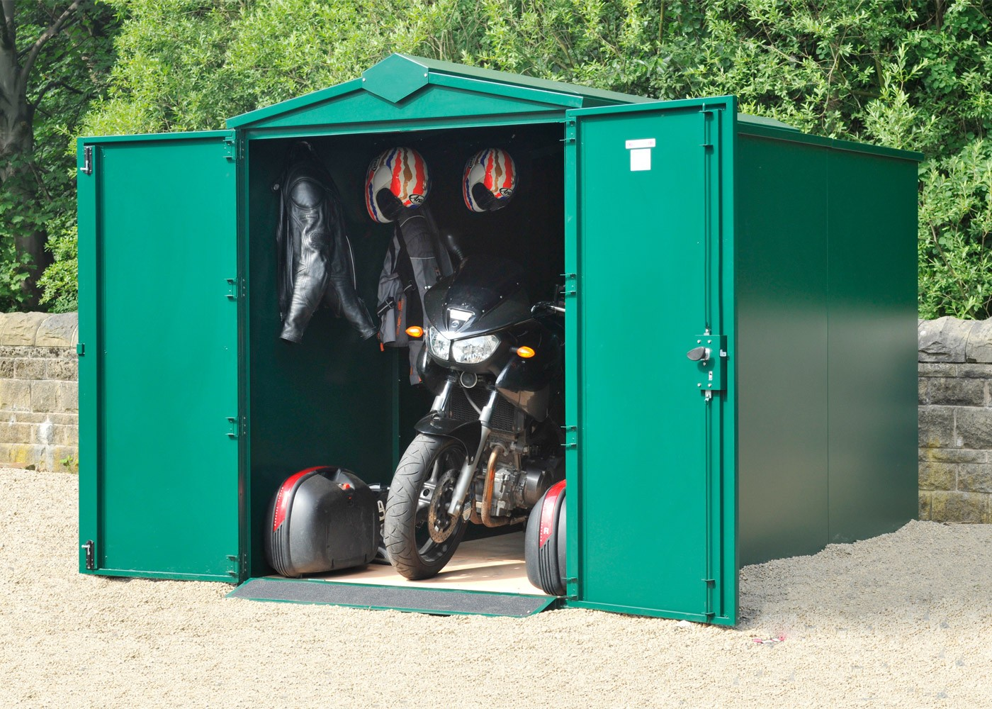 "Motorcycle Storage Shed 10ft 11"" x 5ft"