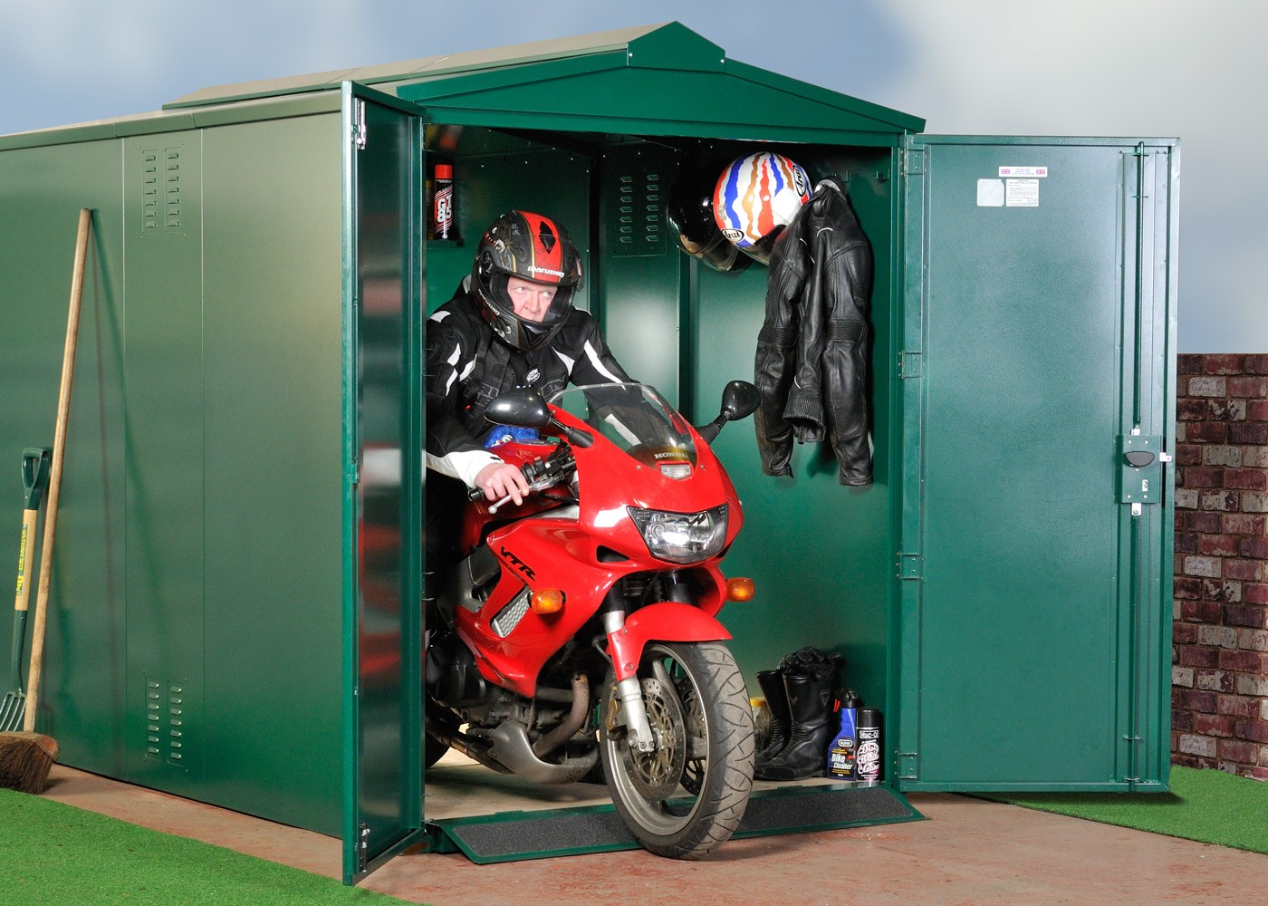 Motorcycle Storage Shed 9ft x 5ft 2""