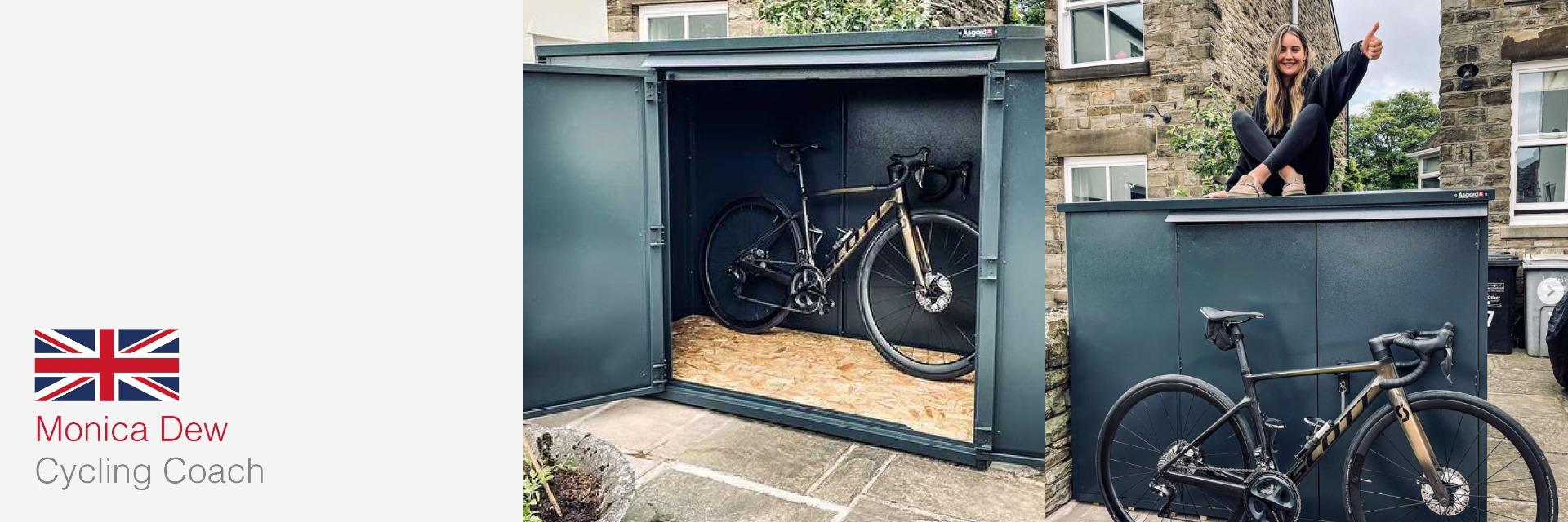 Monica Dew's Annexe Bike Storage Shed