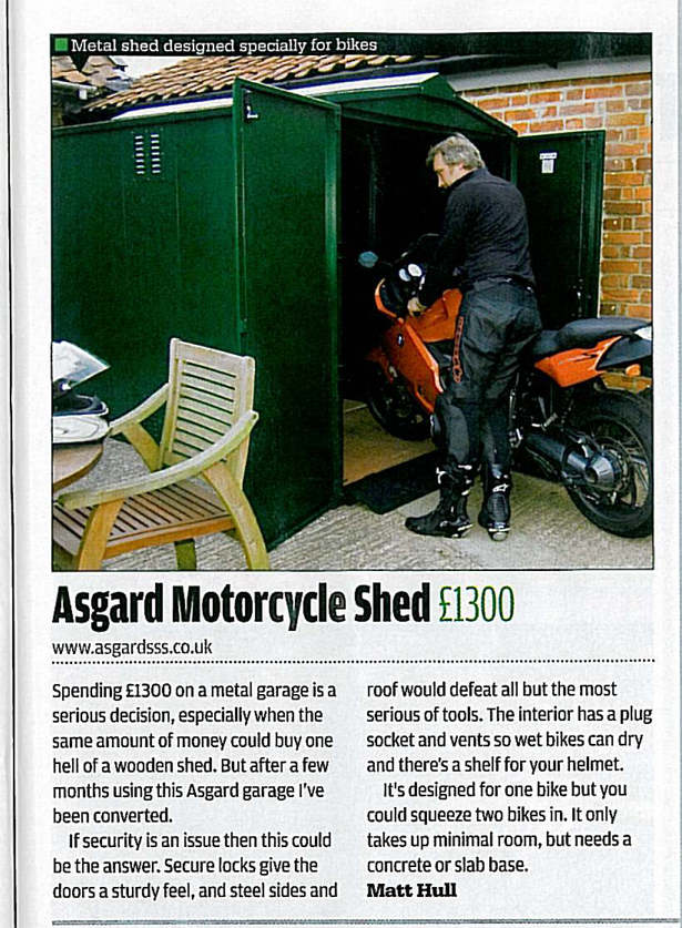 Motorcycle Garages Reviewed Motorbike Storage Tested At