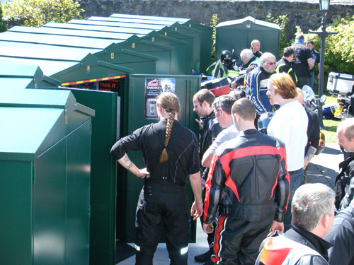Get secure motorcycle storage on your holiday
