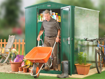 Outdoor metal sheds