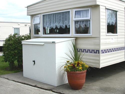 Caravan storage shed