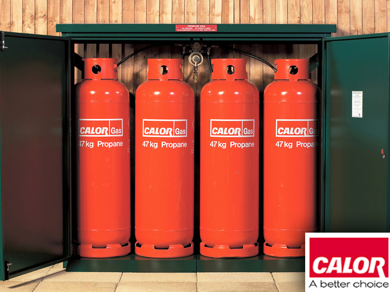 Calor Gas approved propane bottle storage