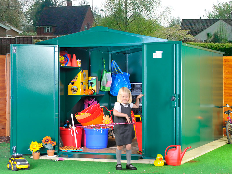 Playground storage sheds