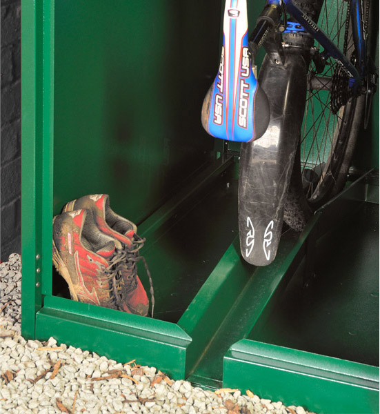 Vertical bike locker floor